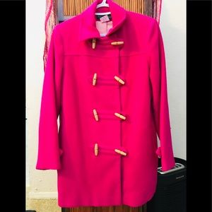 Harve Bernard Pink Wool toggle Emily Pea Coat